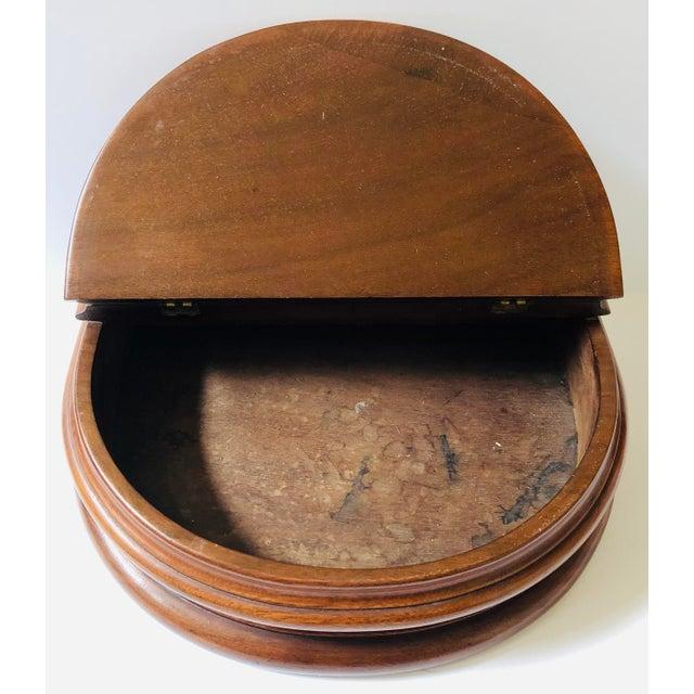 Farmhouse Pair of Pedestal Dresser Boxes For Sale - Image 3 of 8