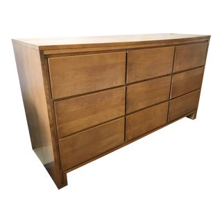 Vintage Mid-Century Leslie Diamond for Conant Ball 9 Drawer Wood Dresser