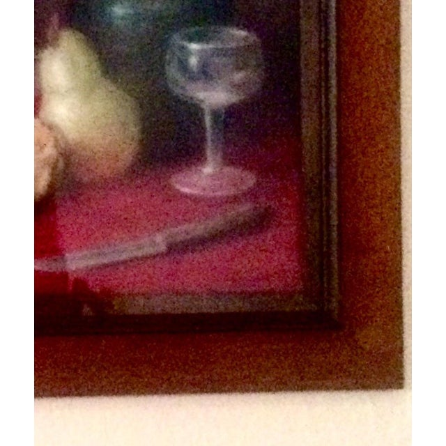 Realism Vintage Original Oil Pastel Still Life Painting For Sale - Image 3 of 6