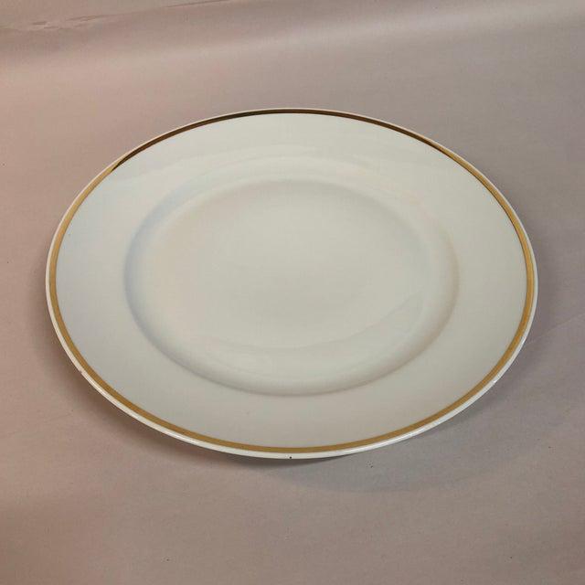 Italian Single Italian Round Platter / Charger White With Gilt Rim Richard Ginori For Sale - Image 3 of 5