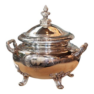 Dazzling Gebruder Friedlander Sterling Silver Etruscan Soup Tureen For Sale