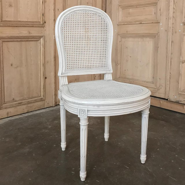 Early 20th Century Antique French Louis XVI Painted Dining Chairs-Set of 8 For Sale - Image 10 of 13