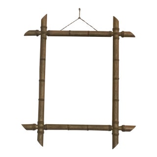 French Bamboo Mirror