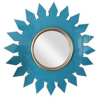 Algonquin Hotel Turquoise Starburst Mirror