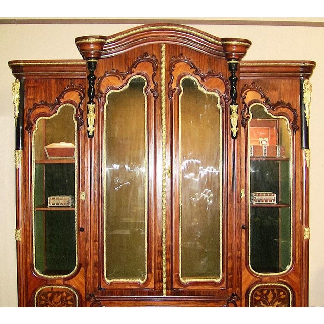 19c French Neo-Classical Revival Style Vitrine - Imposing Piece For Sale - Image 11 of 12