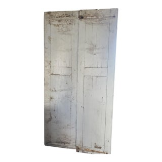 19th Century Antique Raised Panel French Doors-a Pair For Sale