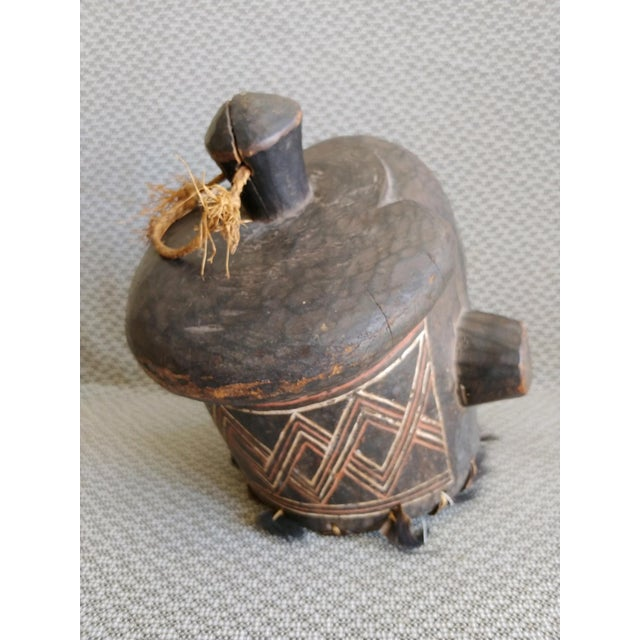Early 20th Century African Carved Wood Full Head Mask For Sale - Image 9 of 11