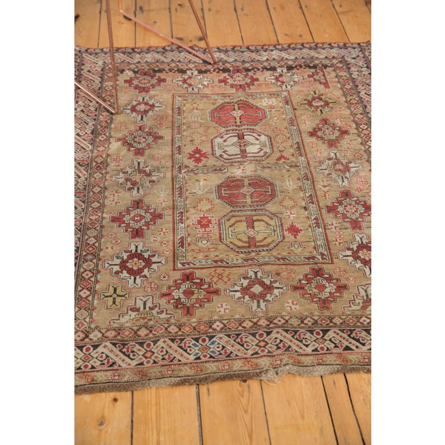 """Antique Caucasian Square Rug - 3'10"""" X 4'8"""" For Sale In New York - Image 6 of 12"""
