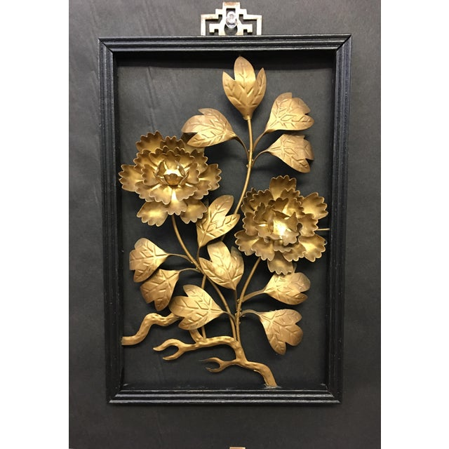 Asian Brass Wall Hangings - Set of 4 For Sale In Washington DC - Image 6 of 9