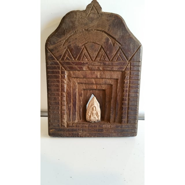 An amazing ancient carved shrine that dates back at least 150 years. Hand carved from teak in Rajasthan India with old...