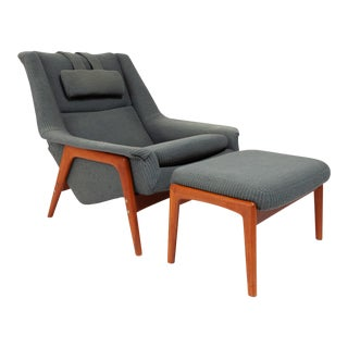 Vintage 1960s Dux Lounge Chair by Folke Ohlsson For Sale