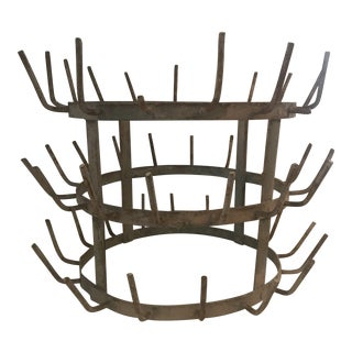 Vintage French Wine Champagne Bottle Drying Rack