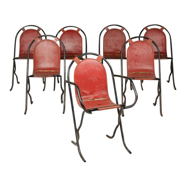 French Wrought Iron Cafe Chairs For Sale