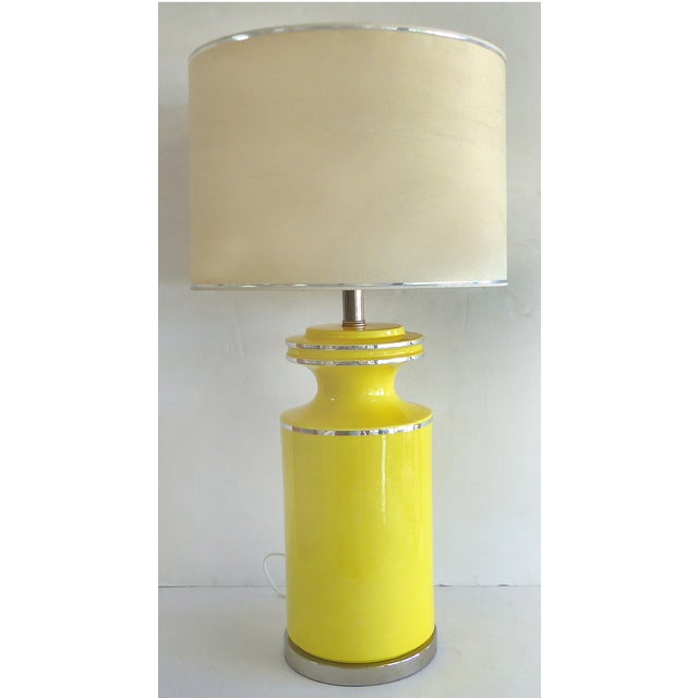 Pierre Cardin Style Glass Table Lamp - Image 2 of 7