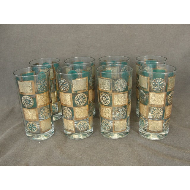 Mid-Century Tumblers With Rack - Set of 9 - Image 3 of 10