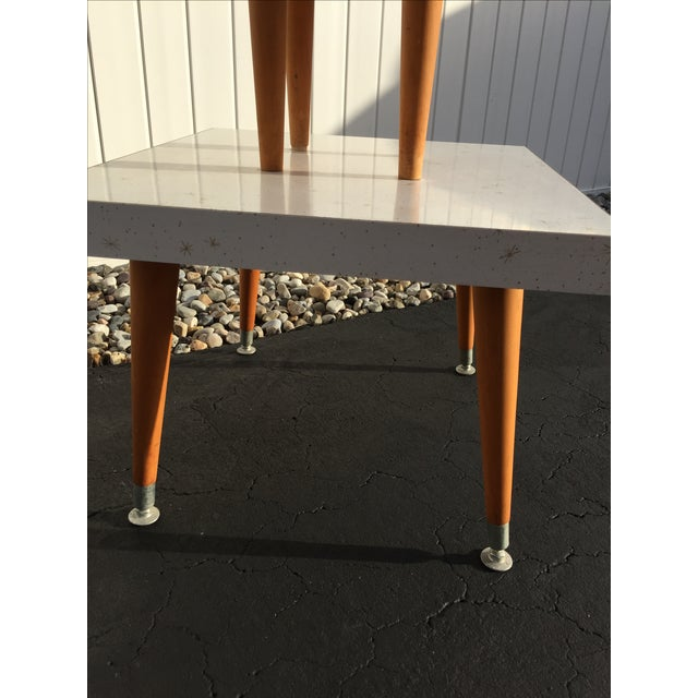Mid-Century Two-Tier Formica Starburst Side Table - Image 7 of 8