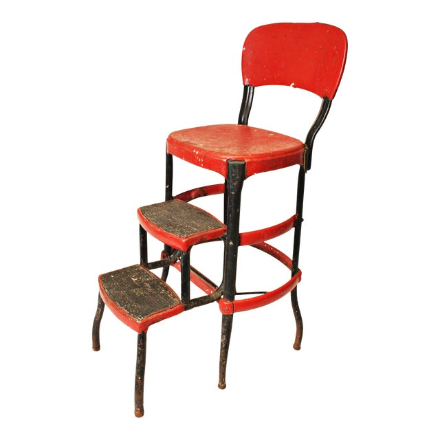 Mid-Century Metal Step Stool - Image 1 of 11