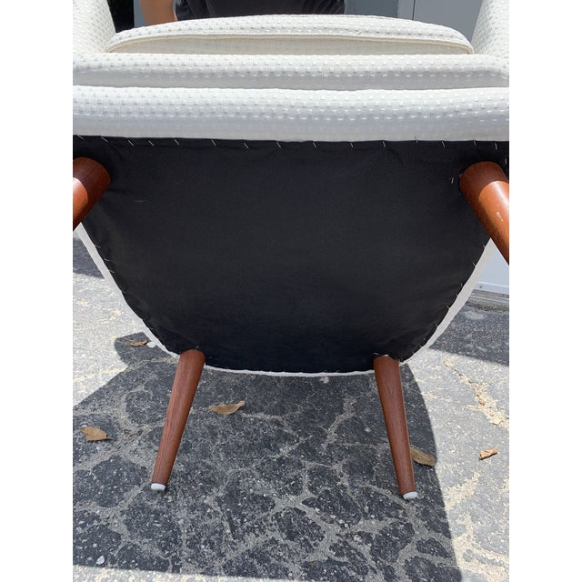 Wood Mid Century Modern Peter Hvidt and Orla Mølgaard for John Stuart Lounge Chair For Sale - Image 7 of 12