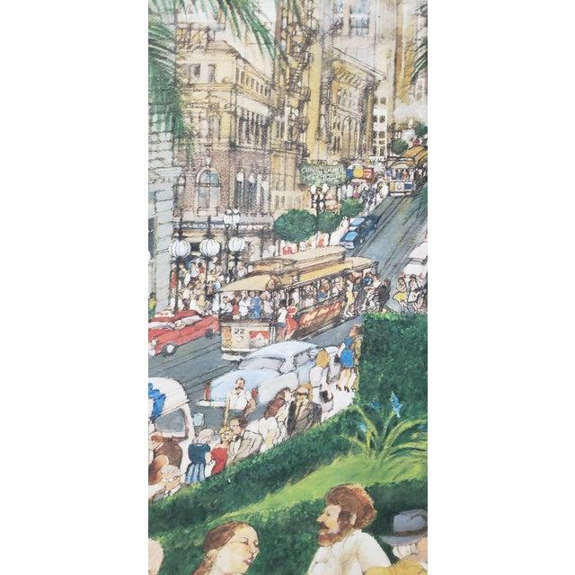 "Franklin McMahon ""Powell Street, San Francisco"" Original Watercolor C.1981 For Sale - Image 9 of 10"