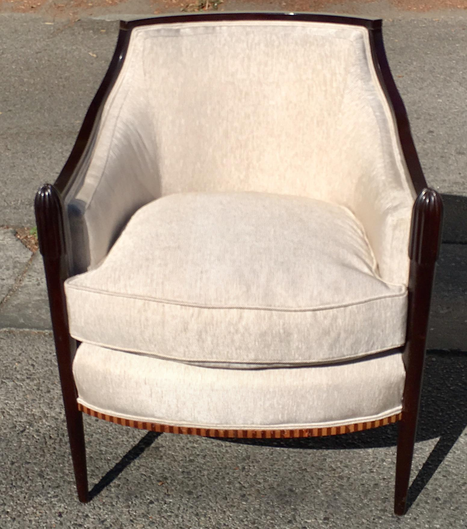 Barbara Barry Baker Furniture Company Art Deco Club Chair   Image 7 Of 7
