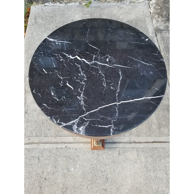 Italian Empire Style Marble Top Side Tables - A Pair For Sale - Image 9 of 11