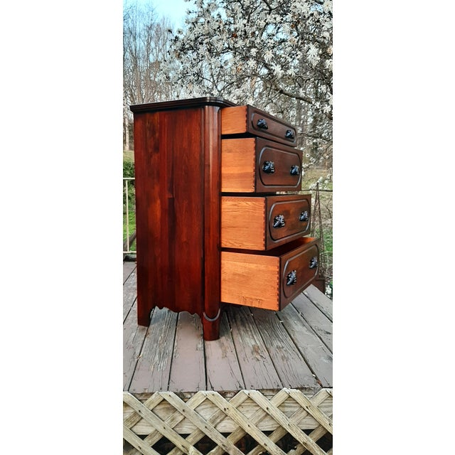 1948 Davis Cabinet Company Lillian Russell Black Walnut Chest of Drawers For Sale - Image 9 of 13
