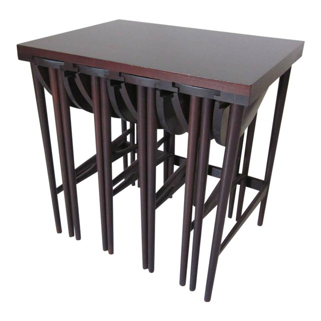 Bertha Schaefer Nesting Tables by Singer and Sons - set of 4 For Sale
