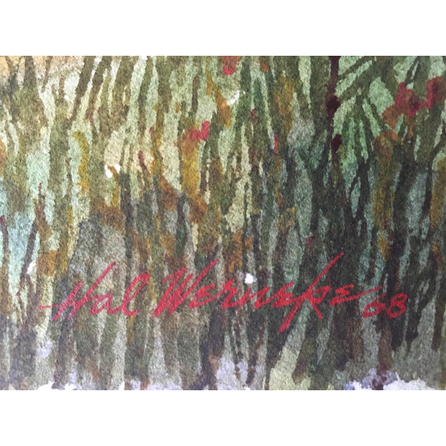 Shooting the Breeze Watercolor by Hal Werneke For Sale - Image 11 of 11