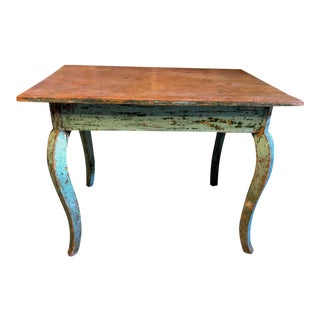 19th C Rustic French Writing Table For Sale