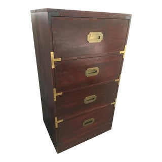 1970s Campaign Mastercraft Brass Detailed Cabinet For Sale
