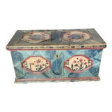 Image of 1811 Painted Wedding Trunk For Sale
