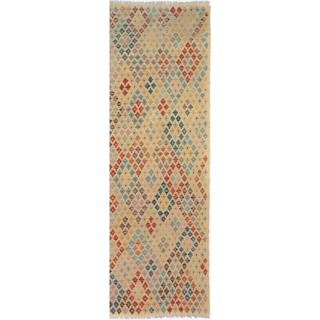 "Kilim Arya Brendan Ivory/Gray Wool Rug - 6'5"" X 9'6"" For Sale In New York - Image 6 of 7"