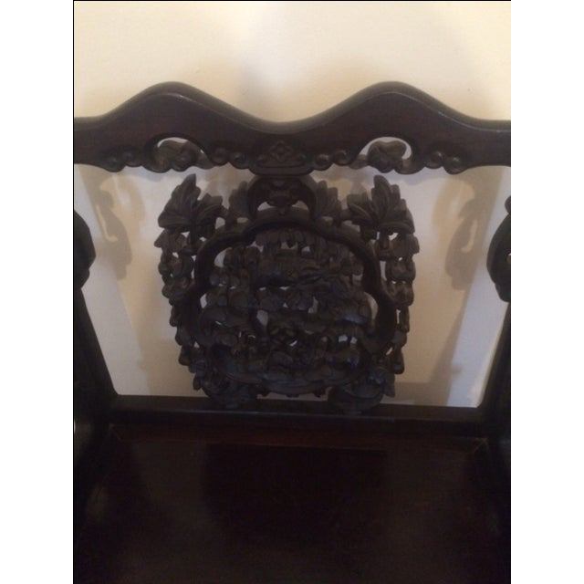 Asian Antique Chinese Throne Chair For Sale - Image 3 of 8