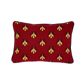 Schumacher Bee Epingle Pillow in Red For Sale