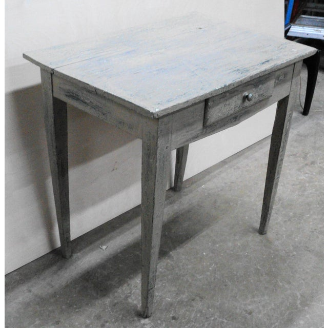 19th Century French Country Work Table in Old Paint For Sale In New York - Image 6 of 10