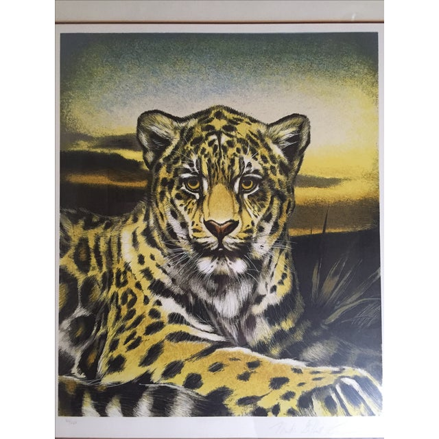 Huge Jaguar Lithograph by Martin Katon For Sale - Image 3 of 8