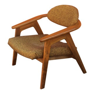 Vintage Mid Century Adrian Pearsall Captains Chair For Sale
