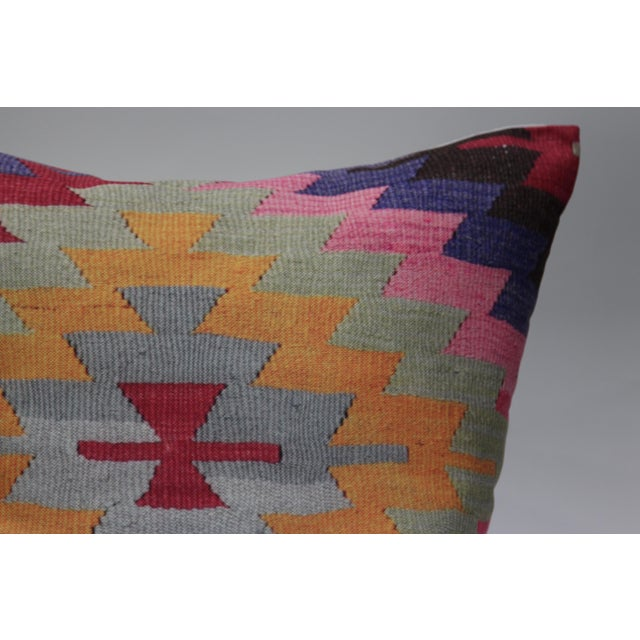 Pink Diamond Kilim Print Pillow-16'' - Image 3 of 5