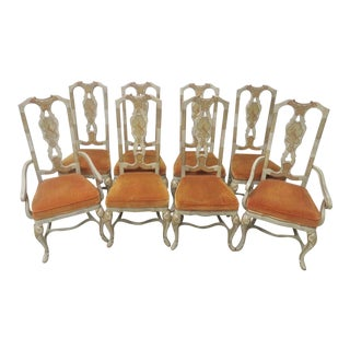 Drexel Oriental Style Dining Chairs - Set of 8 For Sale