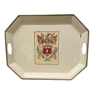1960s Traditional Hancock Ivory Enamel Coat of Arms