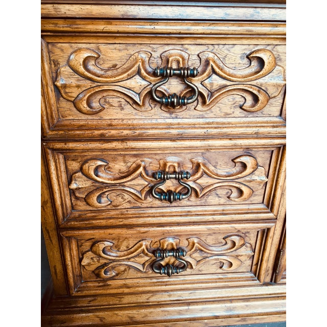 Brown Velero by Drexel Dresser & Mirror For Sale - Image 8 of 11