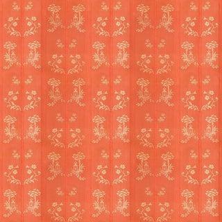 Sample, Suzanne Tucker Home Pagoda Silk Fabric in Coral