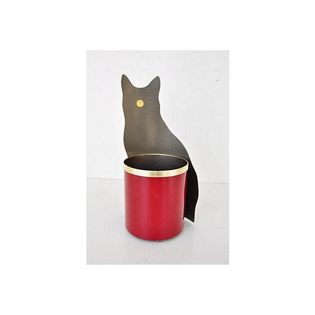 Piero Fornasetti Painted Lightograph Cat Waste Bin - Image 5 of 6