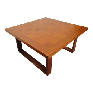 Mid-Century Modern Parquet Top Table By Arne Vodder For France & Son For Sale