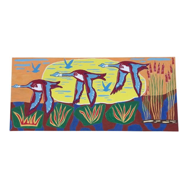 Modern Original Farmer's Glimpse Painting by Myron Greene For Sale