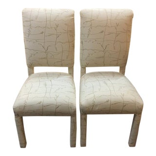 Twisted Roots Upholstered Accent Chairs - A Pair
