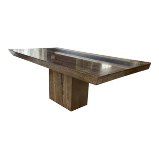 Mid 20th Century Contemporary Natural Stone Dining Table For Sale
