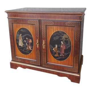 DREXEL Et Cetera Chinoiserie Decorated Media Cabinet Console For Sale