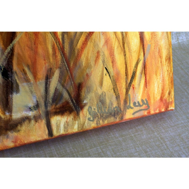 """2000 - 2009 36"""" Original Cheetah Oil Painting by Gilian Levy For Sale - Image 5 of 8"""