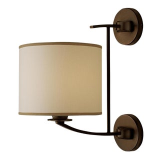 Glasgow Penny Bronze Wall Light With Shade For Sale